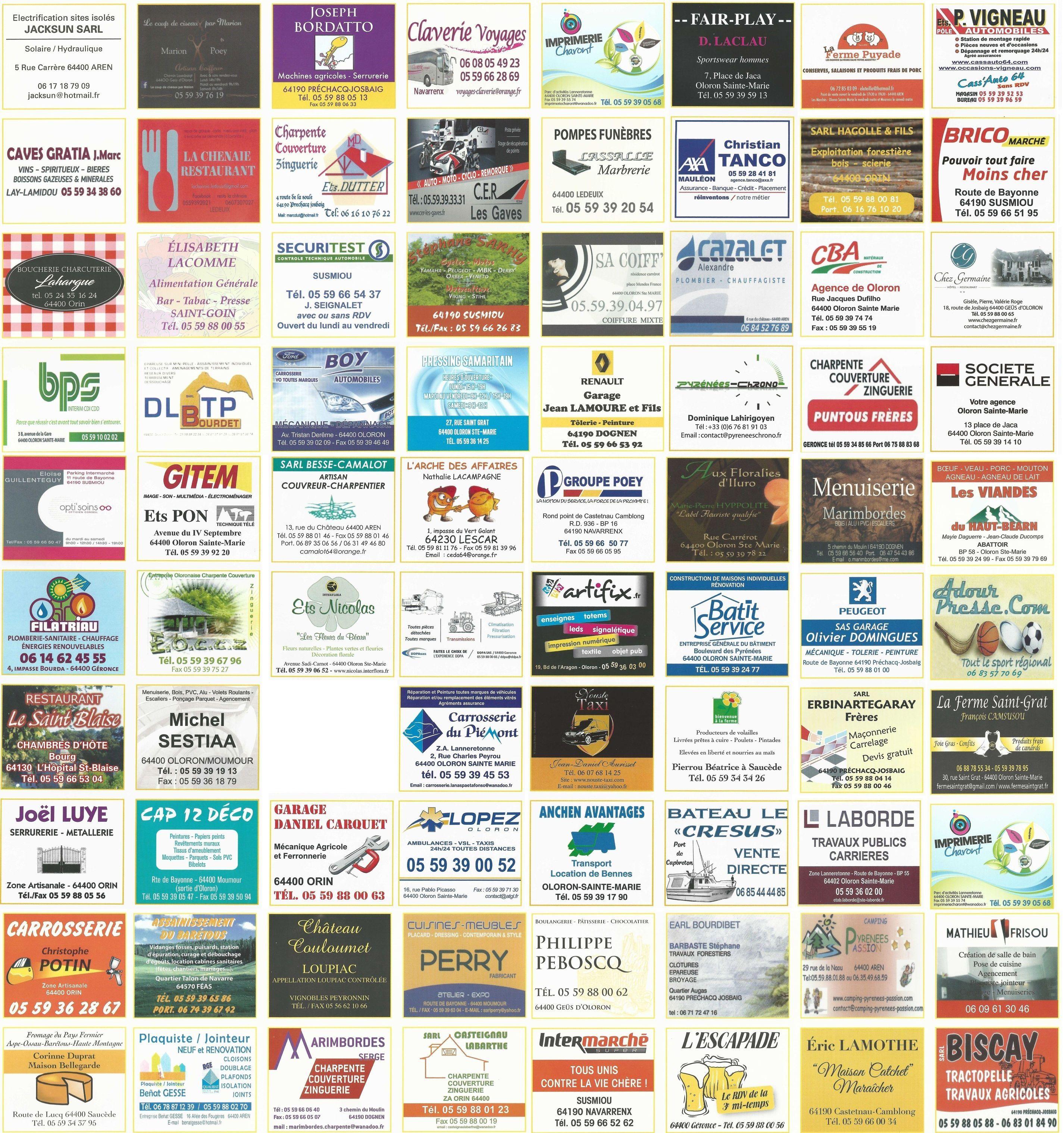 Les sponsors de l'U.S. JOSBAIG